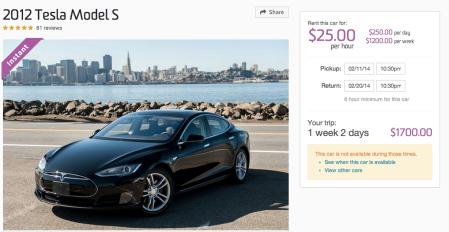 Model S in San Francisco