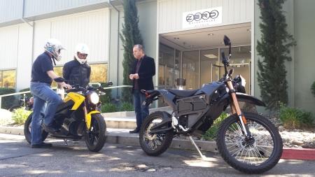 The author preparing for bike ride at ZERO motorcycles in Scotts Valley. Photo: Peter van Deventer / Coast to Coast